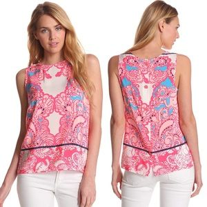 Lilly Pulitzer Iona Silk Shell Blouse